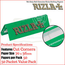 Green Rizla 50 Packets Regular Papers - Free Delivery