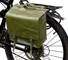 1980s Genuine Ex-Army Waterproof Pannier Bag rubberized retro green bike vintage