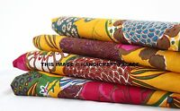 Printed Light Weight Cotton Fabric Indian Dressmaking Sewing Fabric By The Yard