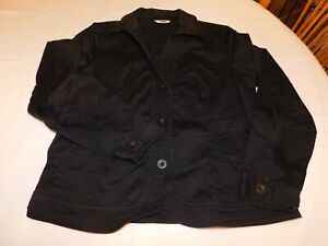 Coldwater Creek Women's Ladies Coat Button Up Jacket Size M medium Black GUC