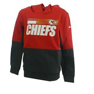 Kansas City Chiefs NFL Nike Kids Youth Size Athletic Hooded Dri-Fit Sweatshirt