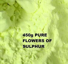 Flores de azufre en polvo 450g - 99,99% De Alta Pureza Sublimado-salud remedio