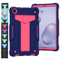 For Samsung Galaxy Tab A 8.0 10.1 Stand Rubber Hard Armor Shockproof Case Cover