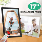 17'' Digital Picture Frame Share Photo Video HD Remote Control Touch W/Bracket