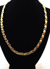 LADIES 19.5 IN GOLD HUGS 'N KISSES HEALING MAGNETIC THERAPY LINK NECKLACE 4 Pain