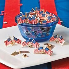 240 Patriotic Double USA Flag clutch pins - wholesale