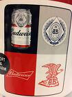 BUDWEISER Beer Label Collage Anheuser-Busch Fleece Blanket Throw