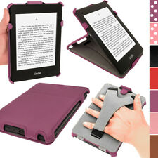 "Purple PU Leather Case for Amazon Kindle PaperWhite 3G 6"" Stand Cover Holder"