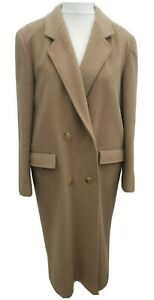 Vintage Winter Overcoat Womens 12 Cashmere Wool Double Breasted Button classic
