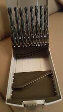 19 tlg Sortiment Spiralbohrer HSS-R Rollgewalzt in Rosebox 1 mm - 10 mm  NEU !!