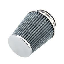 Car Motorcycle Cone Air Filter Clean Intake High Flow Short RAM COLD Round White