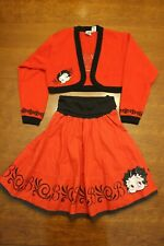 Betty Boop Girls Balero & Skirt Set - SIZE GIRLS 14/16