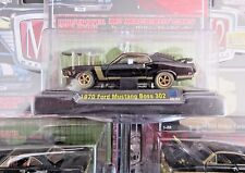 M2 **CHASE ** 1970 Ford Mustang Boss 302** Black Gold Rare Collector Car htf nip