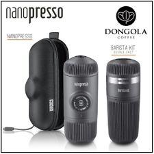 Wacaco NANOPRESSO Espresso Coffee Machine + BARISTA KIT Portable Travel Camping