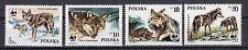 Echte Briefmarken mit Wildtier-Motiven aus Polen