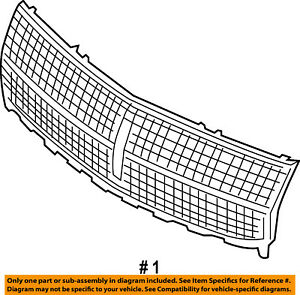 Lincoln FORD OEM 07-10 MKX-Grille Grill 7A1Z8200A