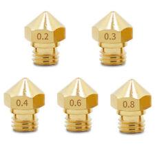 Lot x5 Nozzle 0.2/0.3/0.4/0.6/0.8mm for SainSmart Creality Ender-3 3D Printer