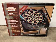 Vintage Halex 8 Player Electronic Dart Board Wood Cabinet 64471 Tournament X-21