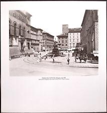 STAMPA ALINARI - PIAZZA DEL NETTUNO, Bologna, inizi '900