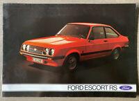 1976 Ford Escort RS 2000 original Belgian sales brochure (French)