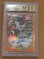 2018 Bowman Chrome Orange /25 Amed Rosario Autograph RC BGS 9.5/9 Auto Rookie