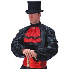 Camicia in raso nera con jabot e fusciacca Tg. M (46/48), Dracula, Vampiri