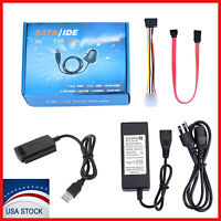 """SATA/PATA/IDE to USB 2.0 Adapter Converter Cable for Hard Drive Disk 2.5"""" 3.5"""""""