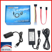 "SATA/PATA/IDE to USB 2.0 Adapter Converter Cable for Hard Drive Disk 2.5"" 3.5"""