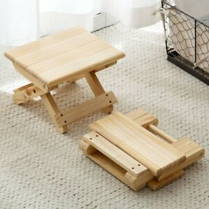 Wood Children's Stool Chair Bench Sit Changing Shoes Bath Fishing Kids Furniture