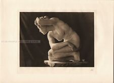MAX KLINGER - CROUCH * very rare & limited copperplate photogravure 1915