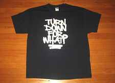 """TURN DOWN FOR WHAT?"" T-Shirt, Men's Size XL, Dark NAVY BLUE All-Cotton Tee NEW"