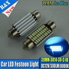 1x Festoon Bulb 39mm 30-SMD LED 3014 C5W ICE BLUE Interior Light Car RV AC DC12v