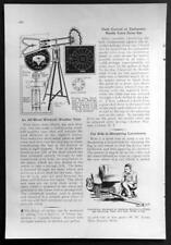 Windmill Weather Vane 1932 HowTo Plans & Ornamental Wooden Fences designs