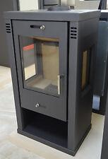 Wood Burnig Stove Solid Fuel Top Flue Three Glasses Fireplace Log Burner 7-10 kW