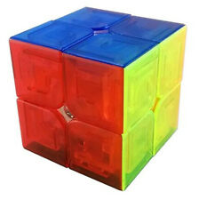 Moyu Lingpo Stickerless Magic Cube Speed puzzle Smooth 2x2x2 -Transparent