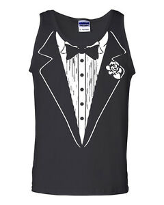 Tuxedo Tank Top Funny Wedding Prom Bachelor Party Top Groom Gift Costume Gym