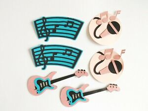 Musical Instruments Papercraft Embellishments Card Making Scrapbooking Crafts