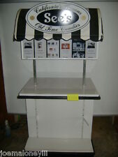 BLACK & WHITE RETAIL CANDY DISPLAY KIOSK / DISPLAY STAND W/ CANOPY