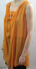 Scanlan & Theodore Size S/M or 8-10 Orange Polka dot Silk Shift Top