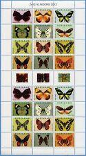 Surinam 2012 Schmetterlinge Butterflies Vlinders Papillons 2539-2550 Bogen MNH