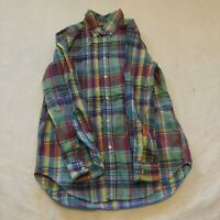 Polo Ralph Lauren Boy's Multicolor Plaids Button Down Shirt Size L (14-16)