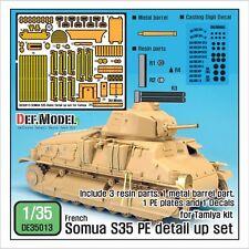 DEF.MODEL, DE35013, Somua S35 PE Detail up set (for Tamiya Somua S35), 1:35