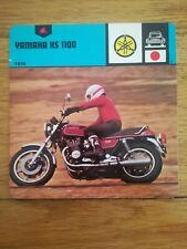 Fiche Moto Motorcycle Card 12 x 12,5 cm - YAMAHA XS 1100 - 1978