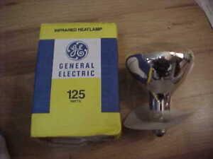 NOS GE General Electric 125 Watt Infrared Heatlamp Bulb W Standard Edison Base