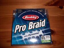 Berkley Pro Braid Braided 65 lb Low Vis Green Power Fishing Line - 150 yd Spool