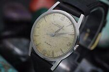 Vintage CROTON NIVADA GRECHEN Hawk Hand Wind Stainless Steel Men's Watch
