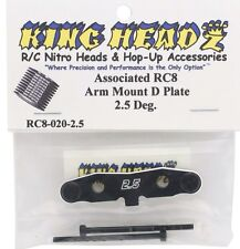 RC8 Arm Mount D-Plate 2.5 Degree KING HEADZ RC8020-2.5 ASSOCIATED .2 .3 SC8 RC8T