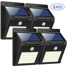 4 PCS,40 LED Outdoor solar light,PIR Motion Sensor Wall Light Lamp Garden Outdoo