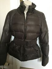 Zara ~ Ladies Brown Down Jacket - Size L
