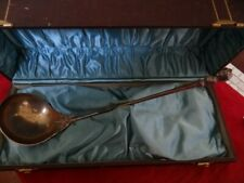 Rare Fine Antique Gorham Coin Silver Stag Head And Bust Soup Punch Ladle Boxed